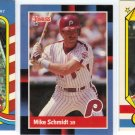 (3) Mike Schmidt cards