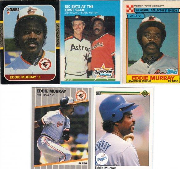 (5) Rare Eddie Murray Cards