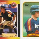 (12) Craig Biggio Rookie Cards