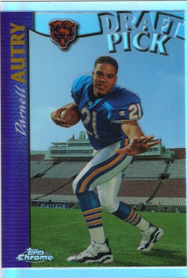 97 Darnell Autry Topps Chrome Rookie Refractor