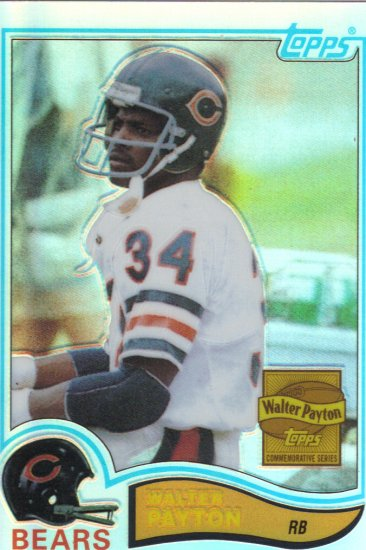 Topps Walter Payton Commemortive Series Refractor #302