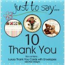 Thank You - Boxed Set of 10 Assorted Notecards and Envelopes