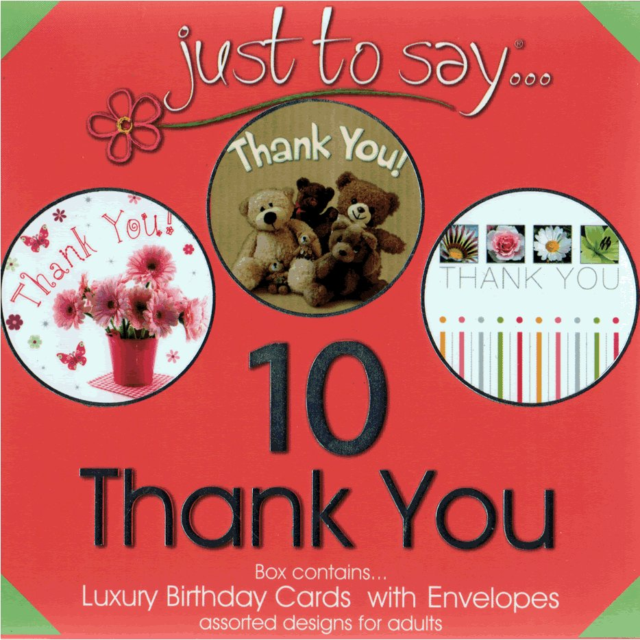 Thank You Cards - Boxed Set of 10 Assorted Notecards and Envelopes