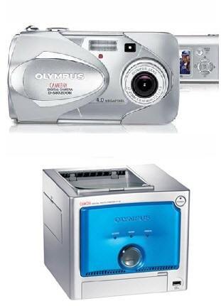 Olympus D-580 Zoom Digital Camera+ P-10 DIGITAL PHOTO PRINTER