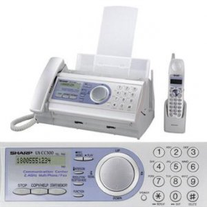 Sharp UX-CC500 5 in 1 Plain Paper Fax With Cordless Handset