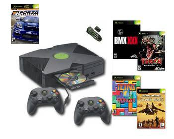XBOX Star Wars BUNDLE Xbox Console, 2 Controllers, DVD Kit and 4 games