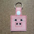 MC Pink Pig Felt Key Ring