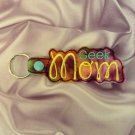 Geek Mom Multi-Color Felt Key Ring