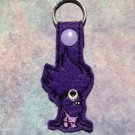 Purple Critter Felt Key Ring