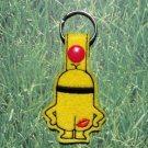 KMA Yellow Critter Felt Key Ring