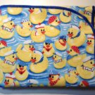 Flannel Baby Blanket - Yellow Rubber Duckies with Hats