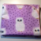 Flannel Baby Blanket - White Fluffy Baby Owls