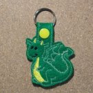Green Dragon Felt Key Ring