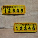 Pair of Yellow Ruler Felt Snap Clips