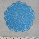 Blue Round Flower Coaster / Mug Rug