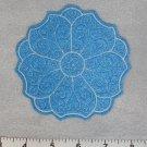 Blue Round Flower Coaster / Mug Rug