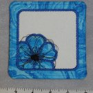 Blue and White Square Poppy Flower Coaster / Mug Rug