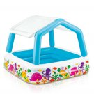 "NEW Intex Sun Shade Inflatable Pool, 62"" X 62"" X 48"", for Ages 2+ w/ Drain Plug"