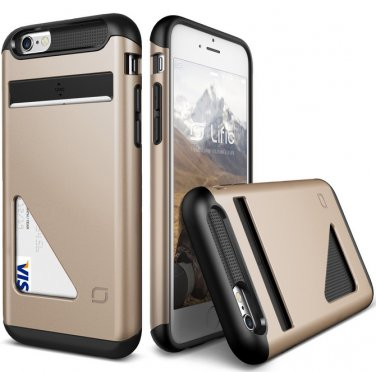 iPhone 6S Case / iPhone 6 Case, Lific [Mighty Card Defense][Shine Gold]