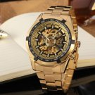 Men's Luxury Automatic Fashion Stainless Steel Bracelet Skeleton Watch with Gift Box