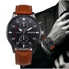 Retro Designer Leather Band Analog Alloy Quartz Wrist Watch