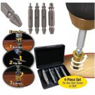 Best 4pcs Damaged Screw Extractor Breakage Bolt Extractor Drill Bits