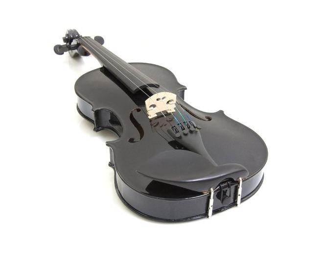 Mendini 1/2 MV-Black Solid Wood Violin BLACK