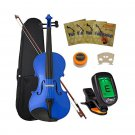 Crescent 4/4 Student Violin Starter Kit, Blue Color