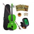 Crescent 4/4 Student Violin Starter Kit, Green Color