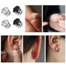 1X Exquisite Hot Mens Women Clear/Black Crystal Magnet Earrings Stud JewelryATUJ