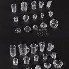 15pcs/Set Mini Transparent Drink Cups Dish Plate Tableware Miniatures ATBD