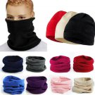 Snood Scarf Winter Hat Fleece Neck Warmer Balaclava Men Women Black Ski MaskATUJ