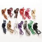 Multi Color Cotton Waxed Round Cord String Dress Shoe Laces 75/85/90cm 1 Pair AT