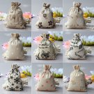 Bag Natural Linen Drawstring Burlap Jute Pouch Sack Wedding Favors Bags MiniATUJ
