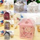 10/50/100Pcs Love Heart Favor Ribbon Gift Box Candy Boxes Wedding Party DecorATU