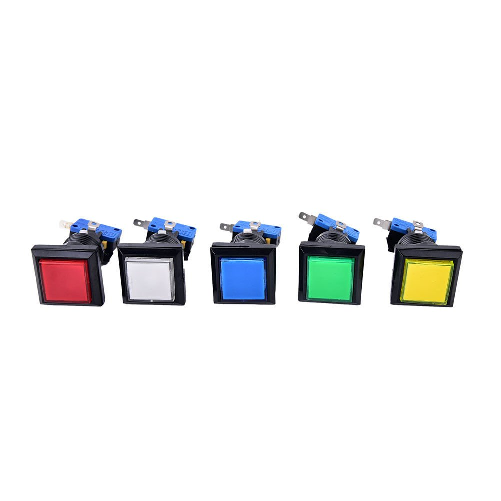 33mm square game machine push button arcade ATD illuminated push button AT
