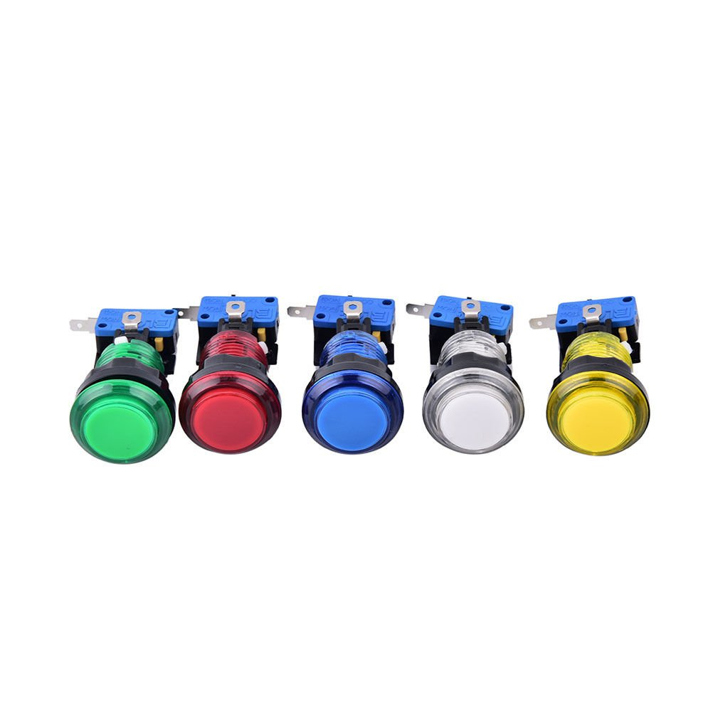 1pc round lit illuminated arcade video game button switch ATD light lamp AT