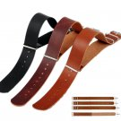 Mens Faux Leather Army Military Watch Strap Band 18/20/22/24mm Black Brown AT