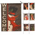 2017 New Year Christmas Party Garden Flag Indoor Outdoor Home Decoration FlaATUJ