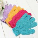 2Pcs Shower Bath Gloves Exfoliating Wash Skin Spa Massage Loofah Body ScrubbATBD