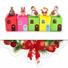 5pcs Xmas Gift Wrapping Boxes Christmas Eve Apple Box Candy Boxes Party BoxesAUJ