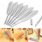 Creative Neutral Solid Color Plastic Water Feather Shape Neutral Pen SupplieATBD