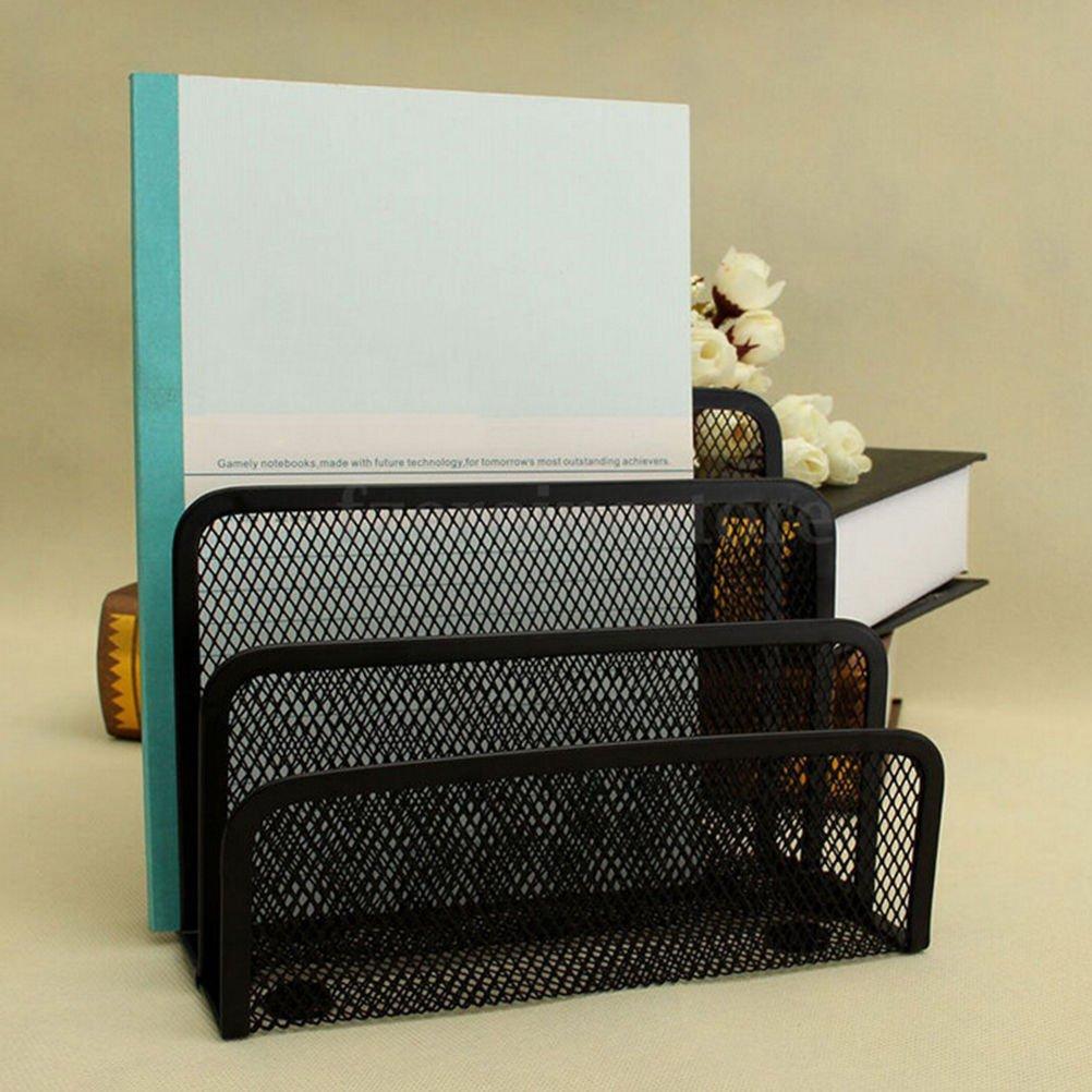 New Mesh Letter Paper File Storage Rack Holder Tray Organiser Desktop Office ATU