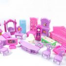 Plastic Furniture Doll House Family Christmas Xmas Toy Set for Kid Children AUTJ