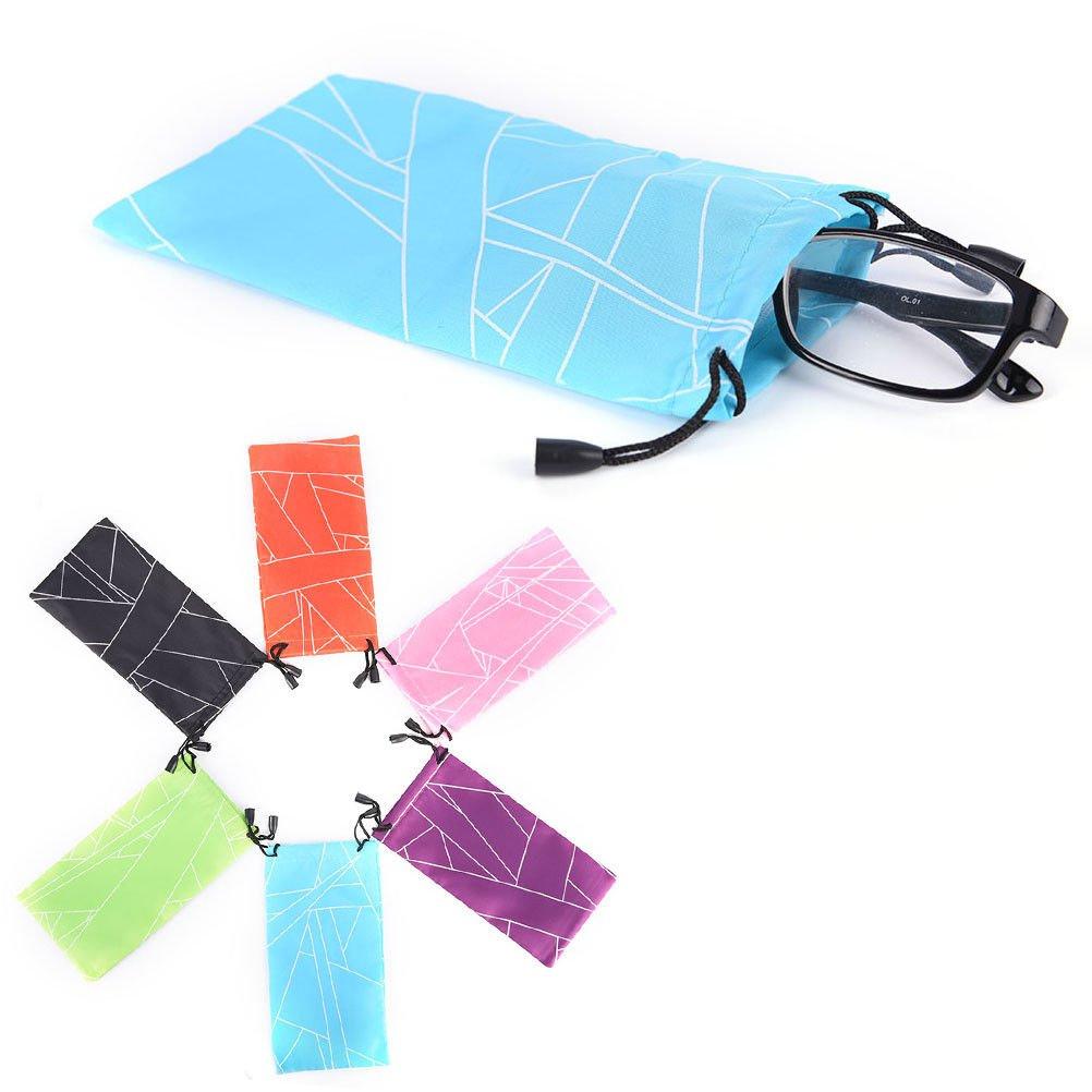5Pc Sunglasses Bag Pouch Soft Cloth Cleaning Optical Glasses Case Random ATBD