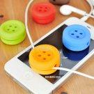 Button Cable Cord Wire Organizer Bobbin Winder Wrap For Headphone Earphone ATEJ