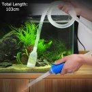 New Aquarium Gravel Fish Tank Vacuum Syphon Cleaner Pump Water 103cm ATUJ