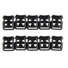 10 PCS Shoelace Buckle Non-slip Survival Stopper Rope Clip Clamp Cord Lock AUTJ