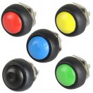 10pcs Colourful 12mm Waterproof momentary ON/OFF Push button Mini Round SwitchAT