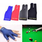 Spandex Snooker Billiard Glove Pool Left Hand Open Three Finger Black ATUJ